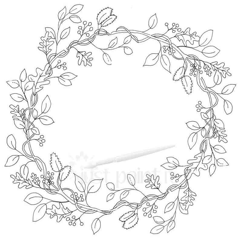 Fall Wreath Coloring Pages Kit - Just Paint It Blog