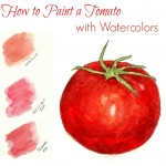 how to paint a tomato