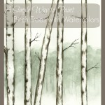paint birch trees