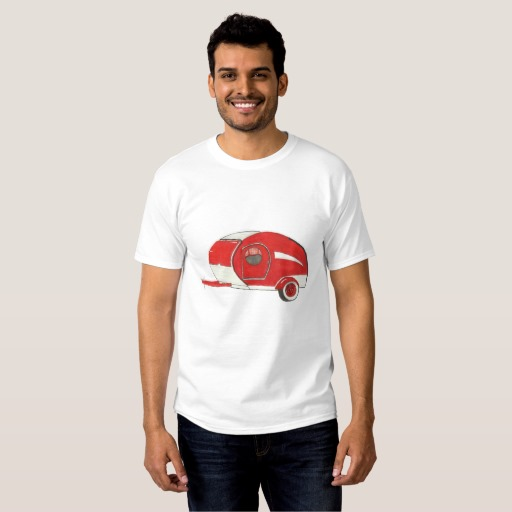 Red Teardrop Trailer Men's Tshirt