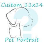 custom 11x14 pet portrait