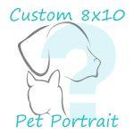 custom 8x10 pet portrait