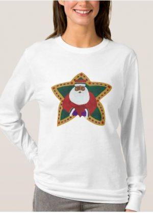African American Santa Woman's T-shirt