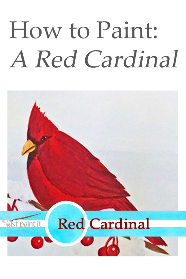 How to Paint a Red Cardinal