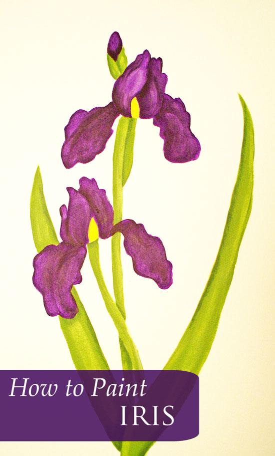 How to Paint Purple Iris