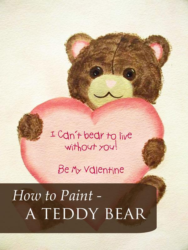 How to Paint a Teddy Bear