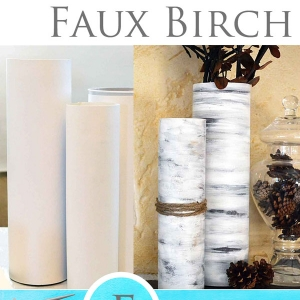 How To Paint Faux Birch